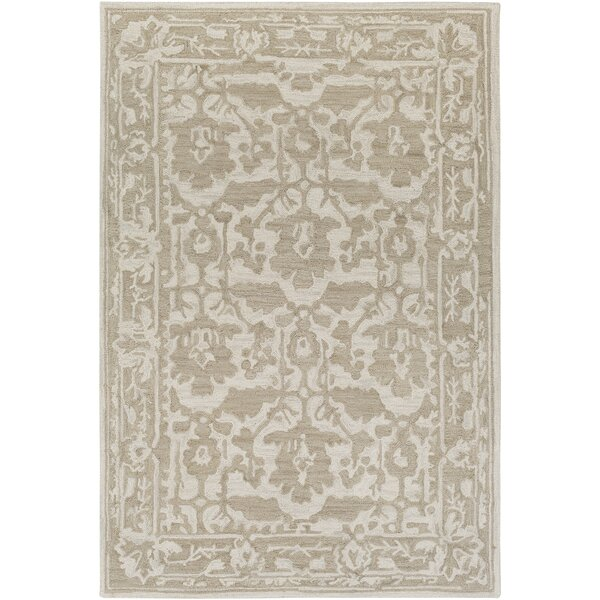 Montgomery Hand-Tufted Tan/Ivory Area Rug by Laurel Foundry Modern Farmhouse