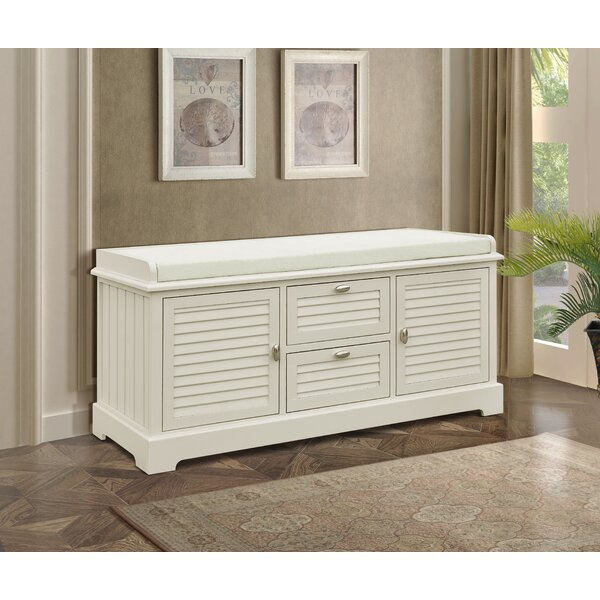 Dvorak Wood Storage Bench by Rosecliff Heights