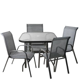 Hanah 5 Piece Mesh Outdoor Patio Dining Set By Red Barrel Studio