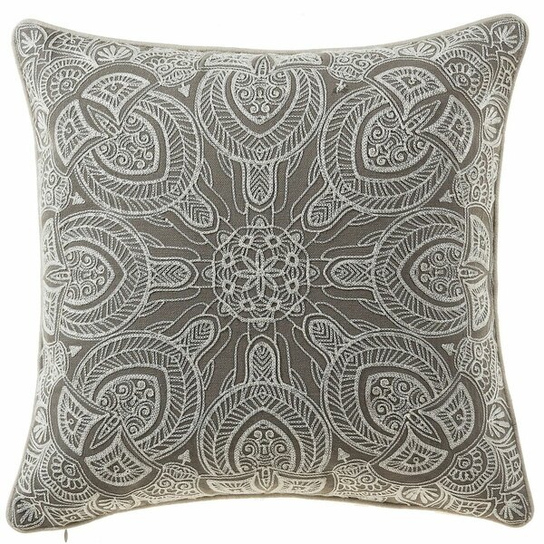 Embroidered Cotton Throw Pillow by 14 Karat Home Inc.