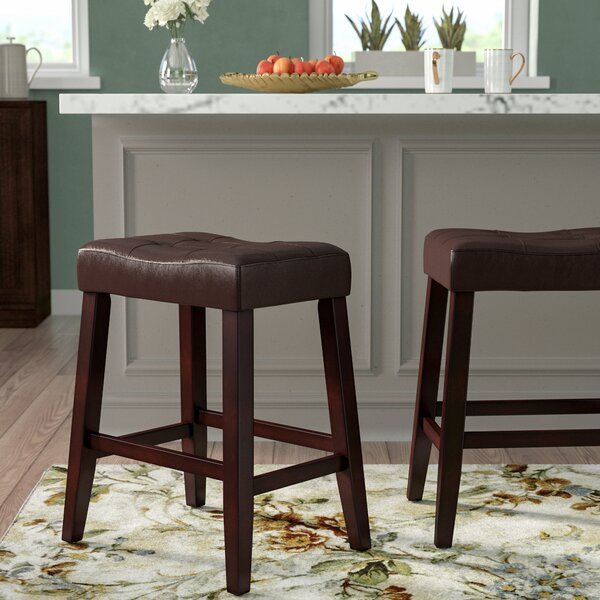 Lyndale Saddle 24 Bar Stool (Set of 2) by Alcott H