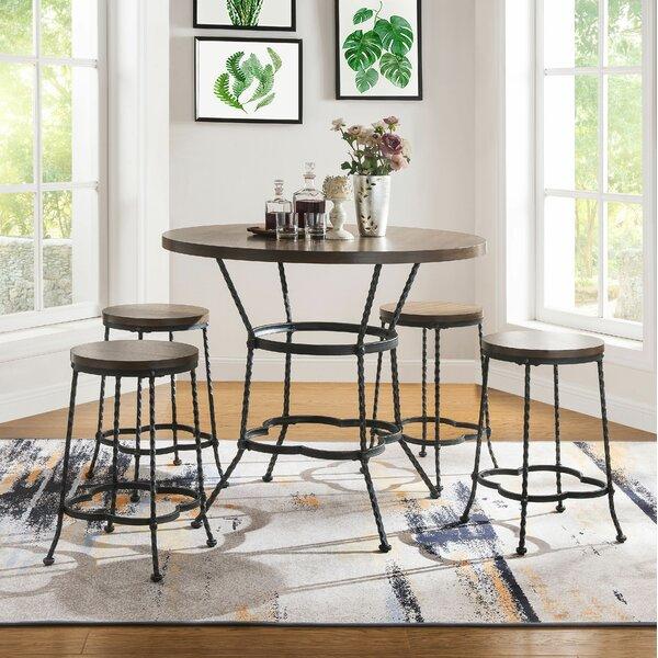 Carbon 5 Piece Pub Table Set by Fleur De Lis Living