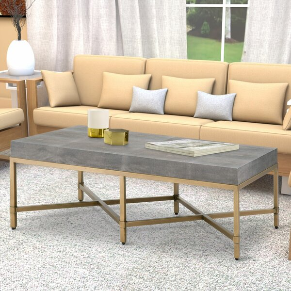 Huntsville Resin Top Rectangular Coffee Table By Everly Quinn