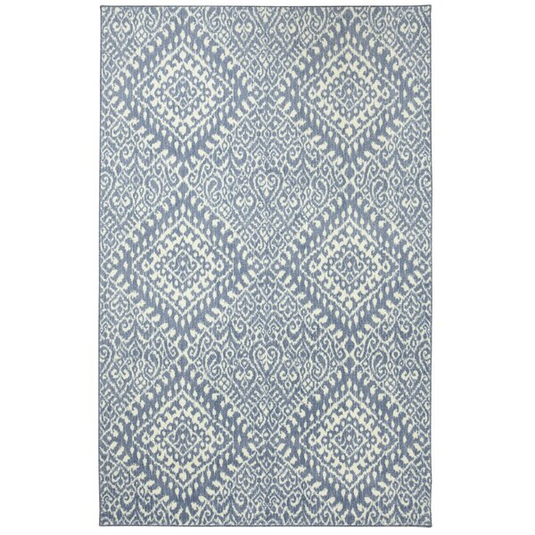 Poston Blue/Ivory Area Rug by Bungalow Rose
