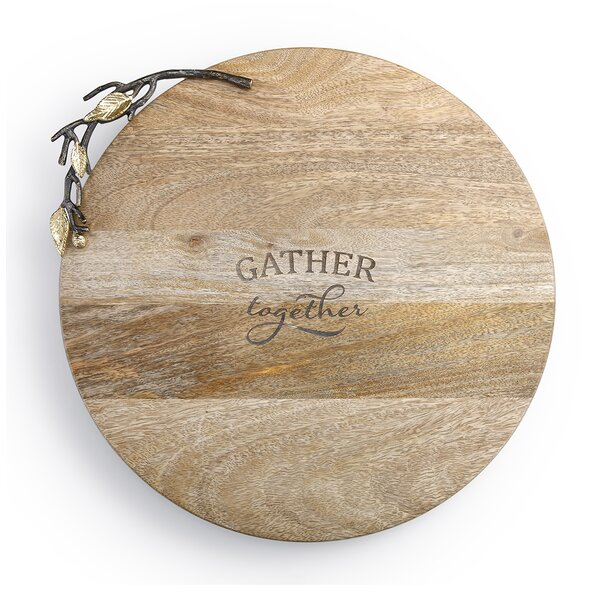 Poetic Threads Gather Together Wooden Lazy Susan by DEMDACO