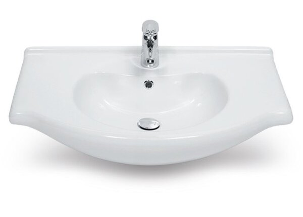 Nil Ceramic 22 Wall Mount Bathroom Sink with Overflow by CeraStyle by Nameeks