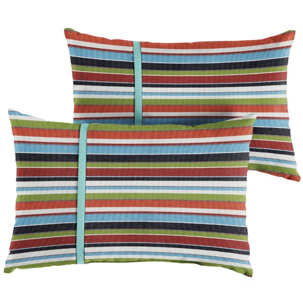 Anglesey Indoor/Outdoor Lumbar Pillow (Set of 2) by Longshore Tides