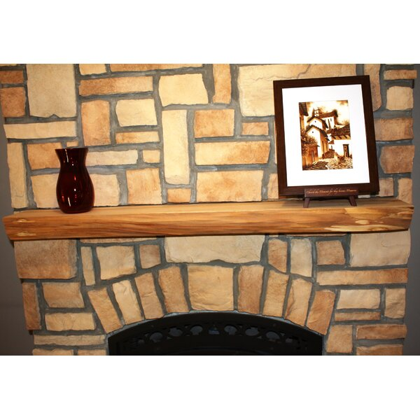 Fireplace Mantel Natural Shelf by Kettle Moraine Hardwoods
