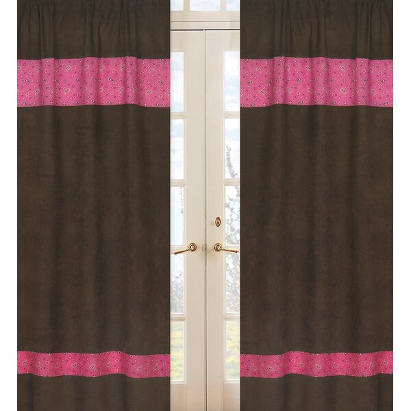 Cowgirl Paisley Semi-Sheer Rod Pocket Curtain Panels (Set of 2) by Sweet Jojo Designs