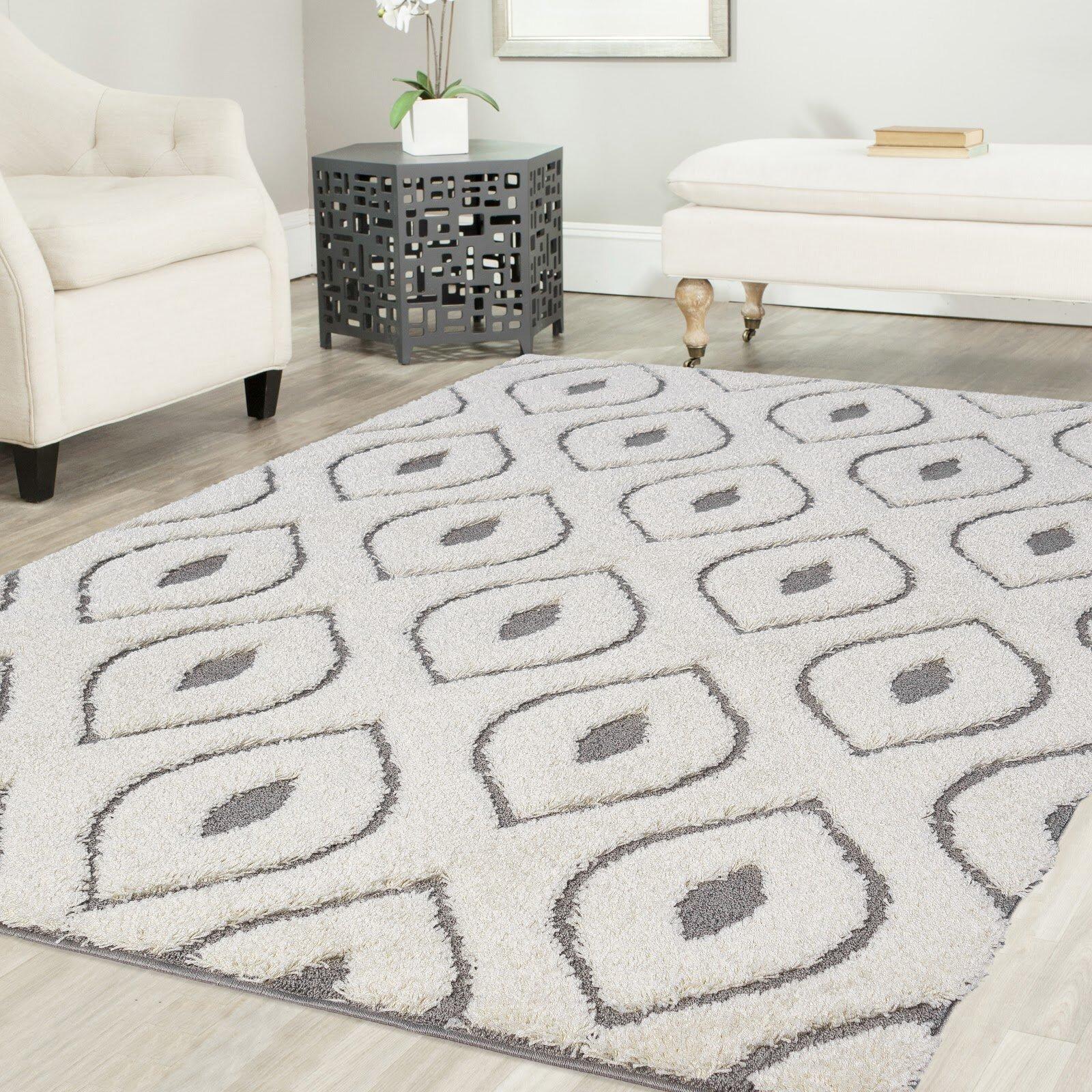 Tapis Long Poil Blanc tapis blanc/gris marocain poils longs ruiz
