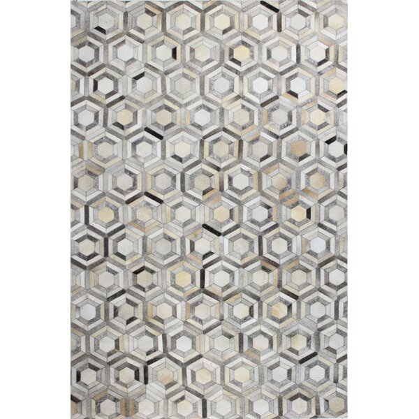 Tuscon Geometric Grey Area Rug by Bashian Rugs