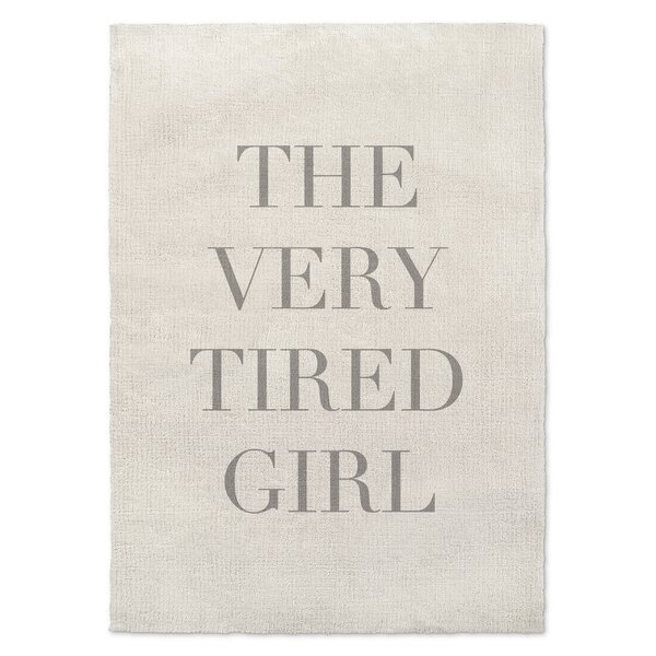 Iyanna Tired Girl Gray/Beige Area Rug by Wrought Studio