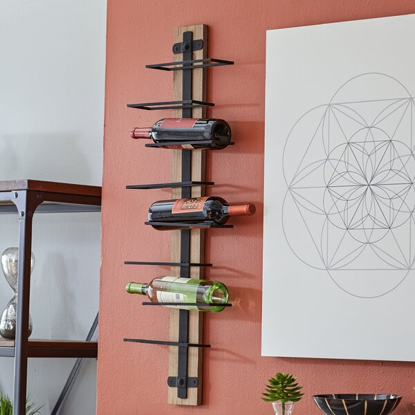 8 Bottle Wall Mounted Wine Rack by Mercury Row
