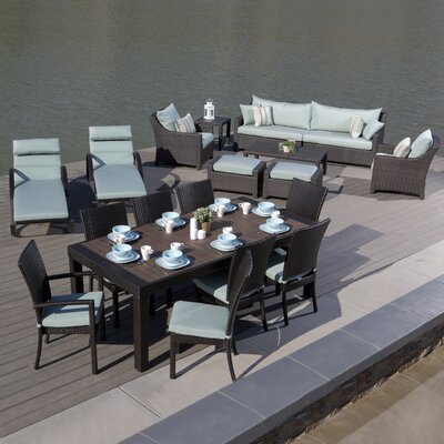 Three Posts Rattan Complete Patio Set Cushions Seating Groups