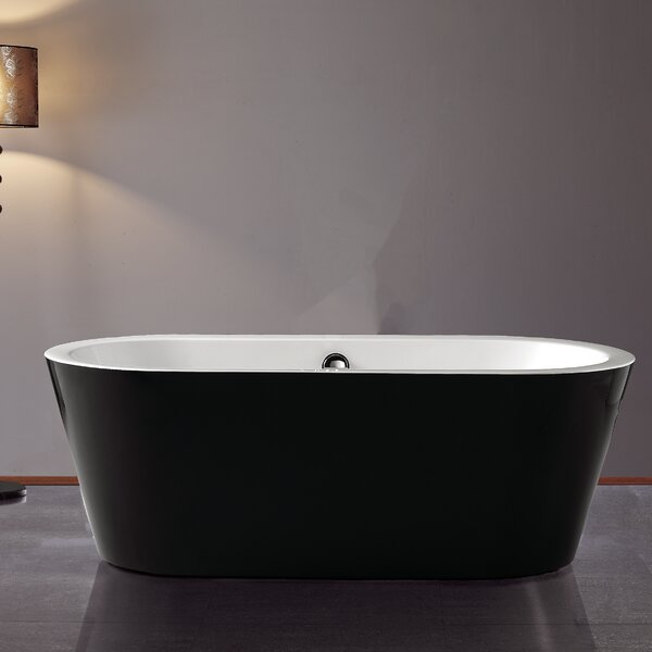 Serenity 62 x 32 Freestanding Soaking Bathtub by Jade Bath