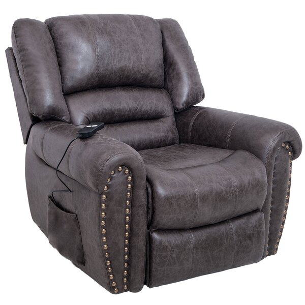 Glasbury Faux Leather Power Lift Assist Recliner W003419758