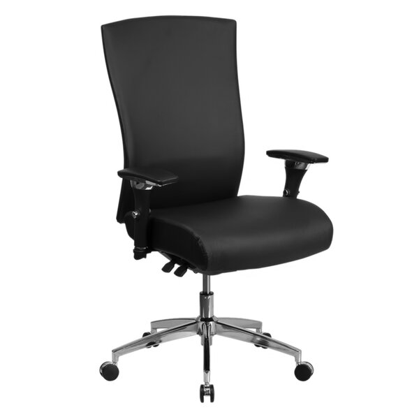 Buster Multi-Functional 26 Leather Executive Chair by Latitude Run