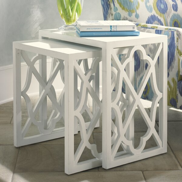 Ivory Key 2 Piece Nesting Tables