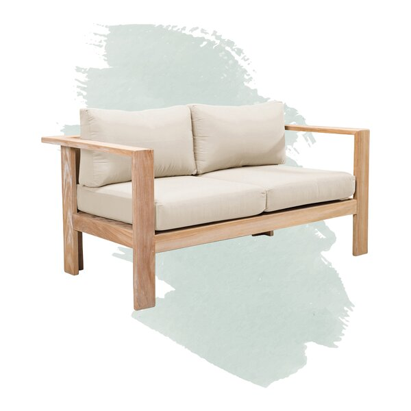 Gillian Teak Loveseat with Sunbrella Cushions by Foundstone Foundstone
