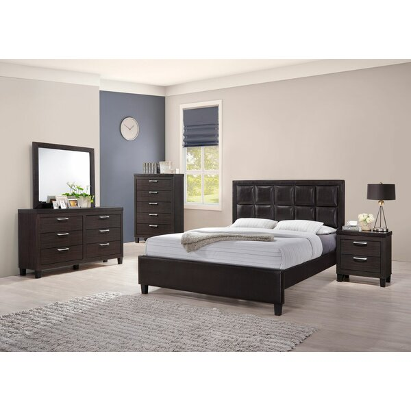 Pelkey Queen Panel 5 Piece Bedroom Set by Ebern Designs