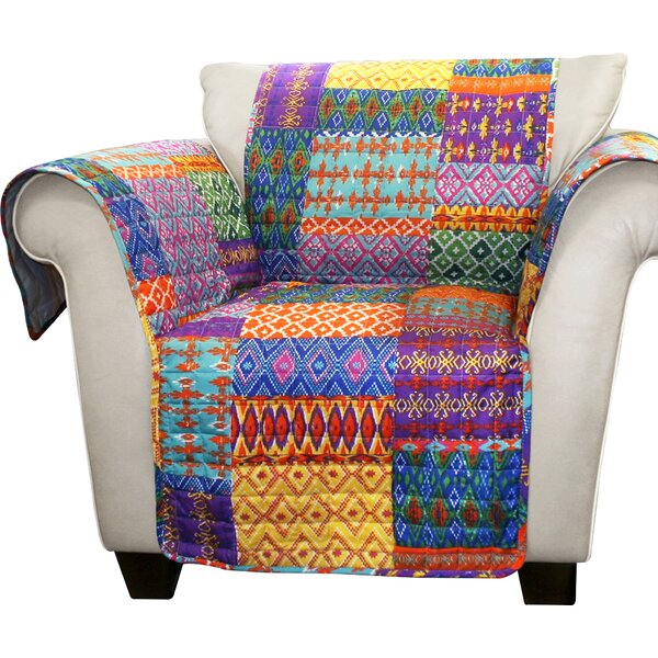 Broadbent Box Cushion Armchair Slipcover by World Menagerie