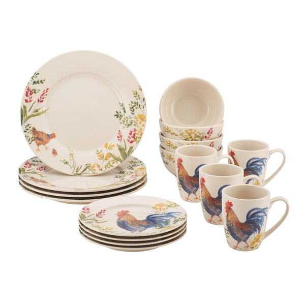 16 Piece Dinnerware Set, Service for 4 by Paula Deen
