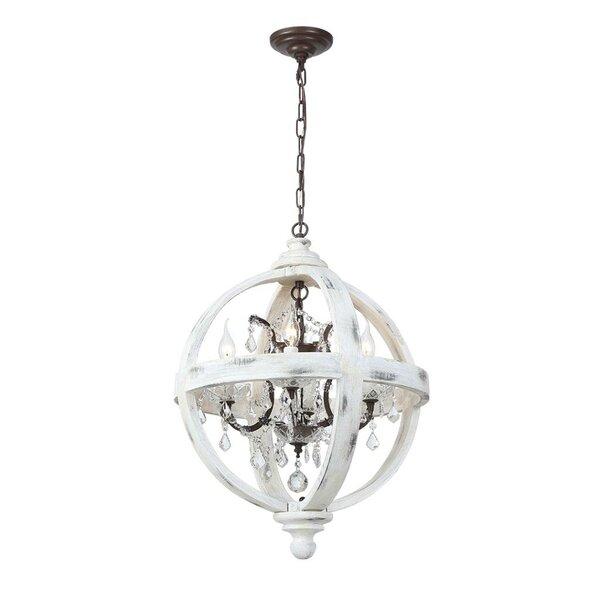 Guzman 4 - Light Statement Globe Chandelier by One Allium Way One Allium Way