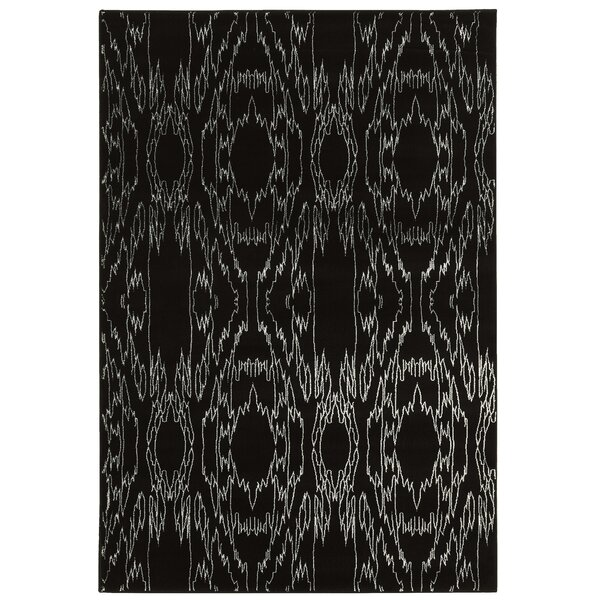 Lucinda Black Area Rug by Threadbind