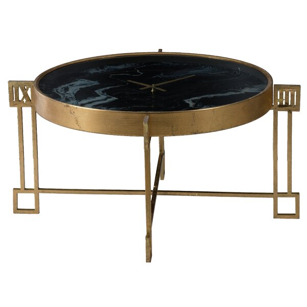 Best Price Derwin Coffee Table - Weathered Gold