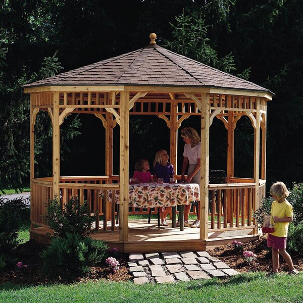 San Marino 12 Ft. W x 12 Ft. D Solid Wood Patio Gazebo by Handy Home