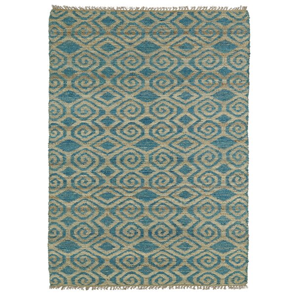 Saint-Joseph Beige & Blue Area Rug by Bungalow Rose