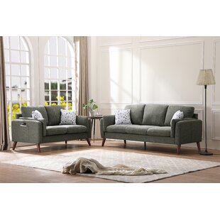 Manoel 2 Piece Standard Living Room Set by Corrigan Studio®