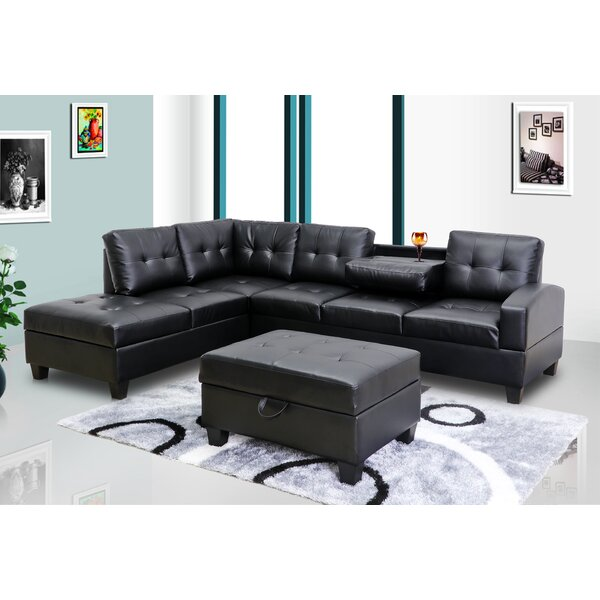 Benkelman Right Hand Facing Sectional With Ottoman By Red Barrel Studio