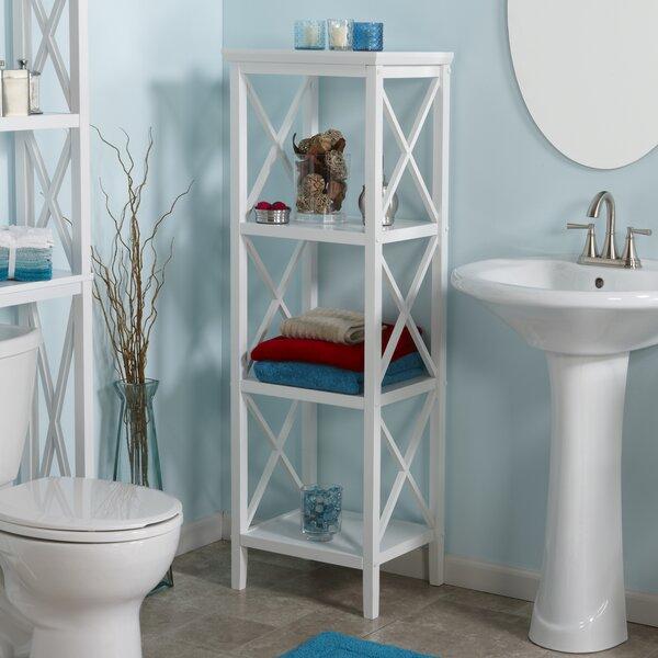 Nellis X-Frame 18.11 W x 53.86 H Bathroom Shelf by Beachcrest Home