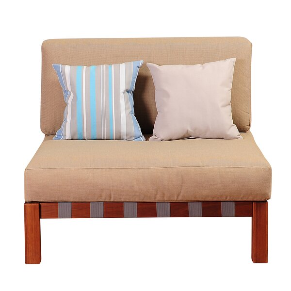 Elsmere Armless Chair with Cushions by Beachcrest Home