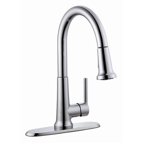 Geneva Pull Out Single Handle Kitchen Faucet by Design House