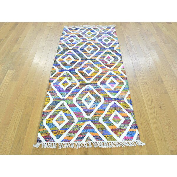 One-of-a-Kind Boyster Handmade Kilim Wool Area Rug by Isabelline