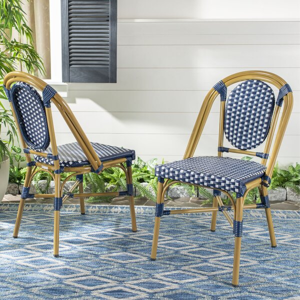 Armando Bistro Stacking Patio Dining Chair (Set of 2) by Ophelia & Co.