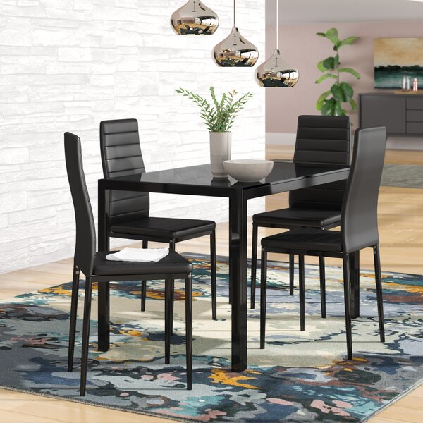 Zaugg 5 Piece Dining Set by Orren Ellis