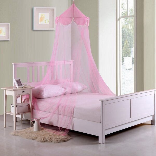 Pom Pom Kids Collapsible Hoop Sheer Bed Canopy by