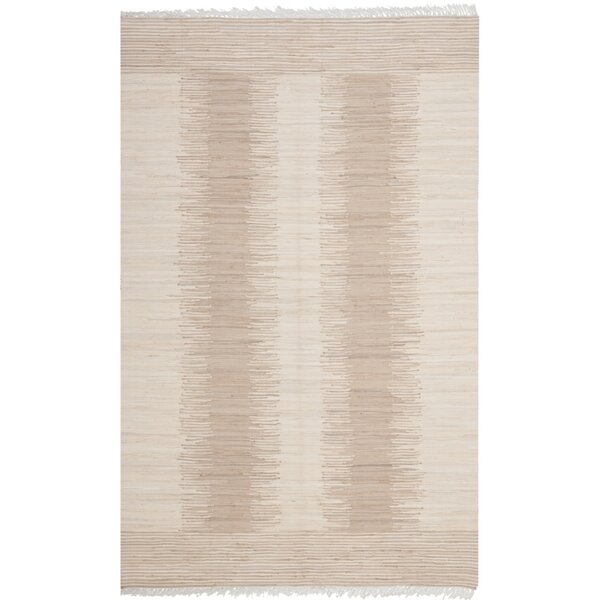 Lotie Hand-Woven Beige Area Rug by Zipcode Design