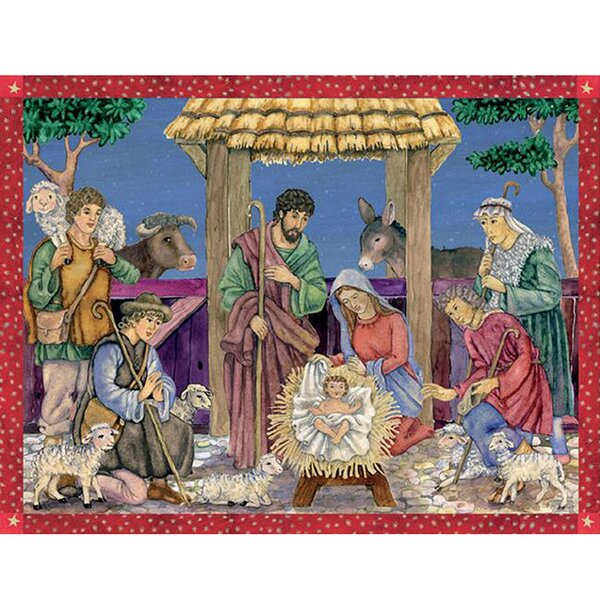 Sellmer Holy Family Scene Advent Calendar by The Holiday Aisle