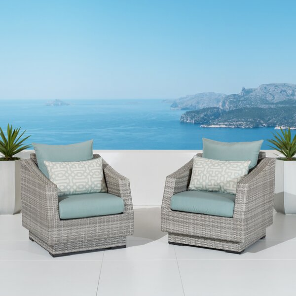 Castelli Patio Chair with Sunbrella Cushions (Set of 2) by Wade Logan