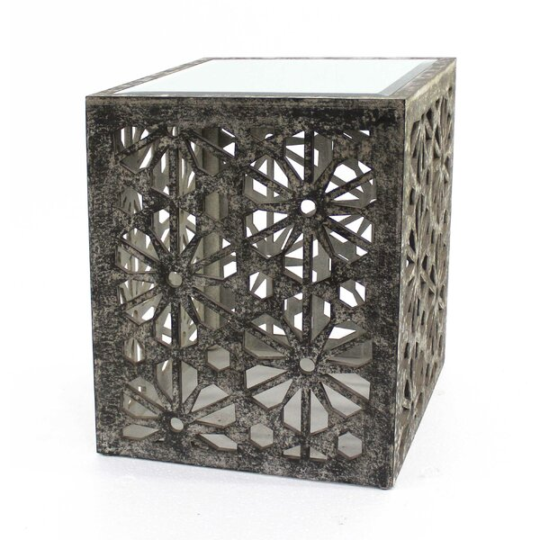 Aspasia Floral Wooden End Table by Bungalow Rose