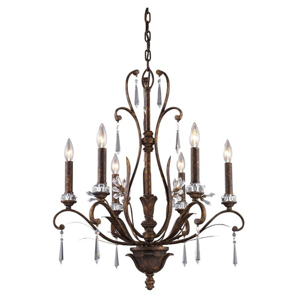 Clyda 6 - Light Candle Style Empire Chandelier By House Of Hampton