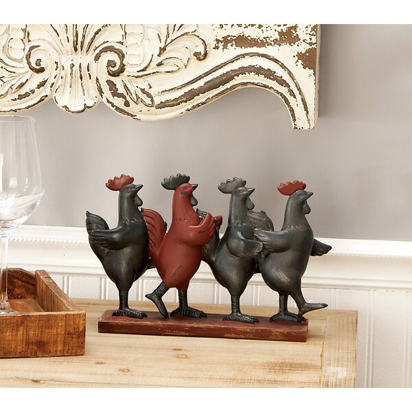 Polystone Dancing Rooster Figurine by Cole & Grey