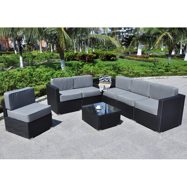 Shirebrook Outdoor All-Weather 8 Piece Sectional Seating Group with Cushions by Ivy Bronx