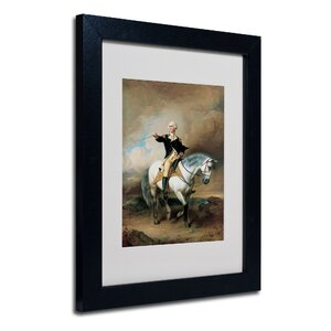 'Portrait of George Washington' by John Faed Framed Painting Print by Trademark Fine Art