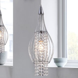 Crystal pendants youll love wayfair xyza 1 light crystal pendant aloadofball