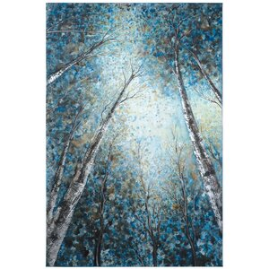Revealed Artwork Into The Trees Painting on Wrapped Canvas by Yosemite Home Decor